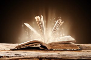 open book emitting lights