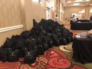 Bouchercon book bags pile