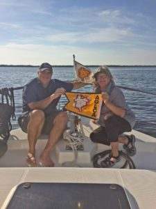Paul and Caryn Frink earn their Loopers gold burgee